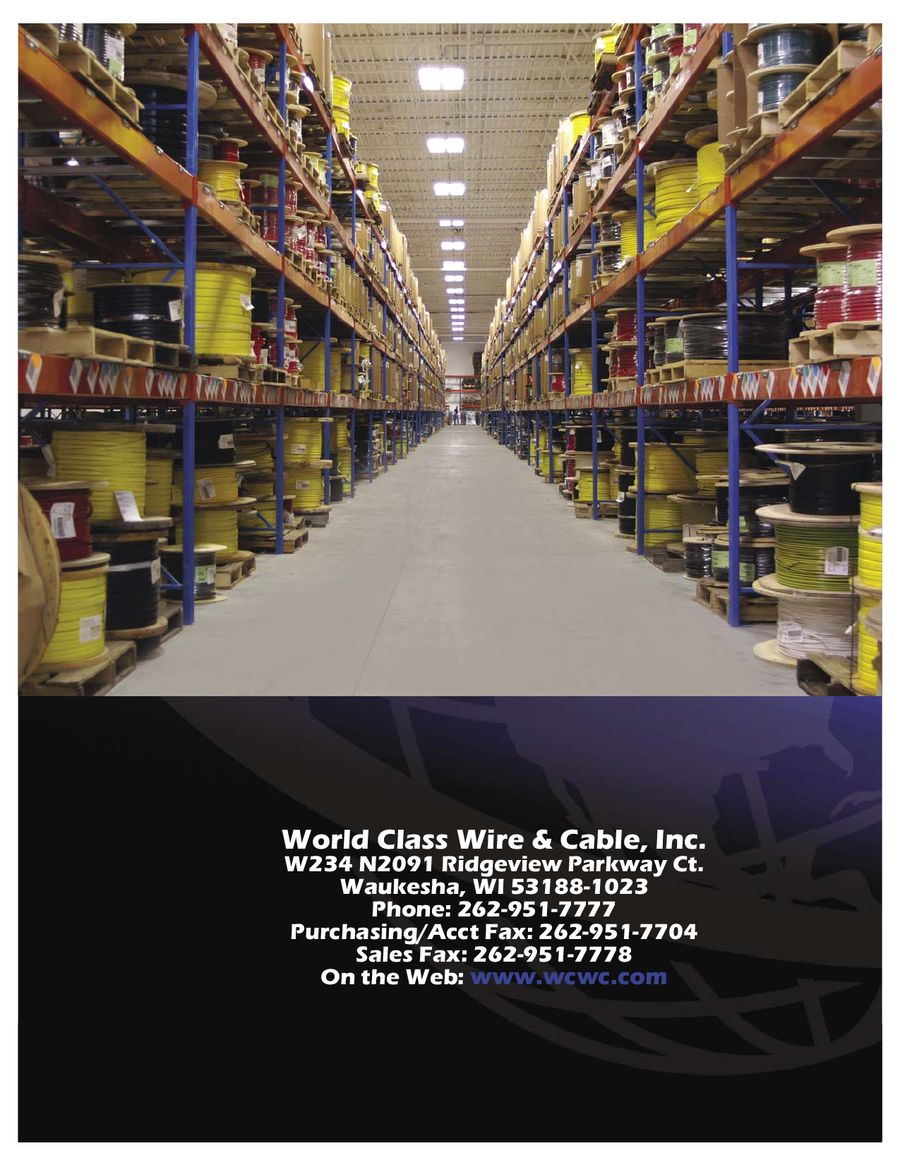 Current Product Catalog by World Class Wire and Cable