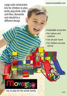Toys for Children with large scale construction toys