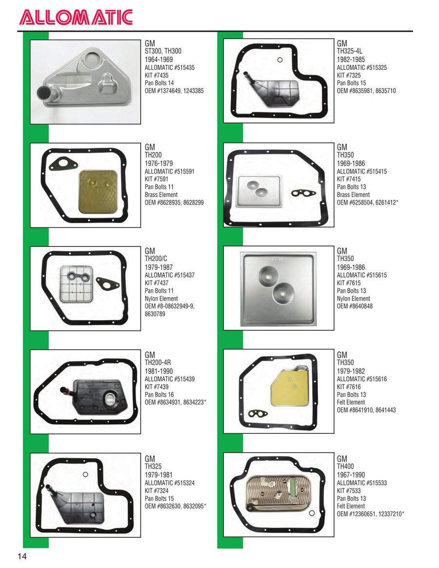 Page 13 of Filter Catalog 2015