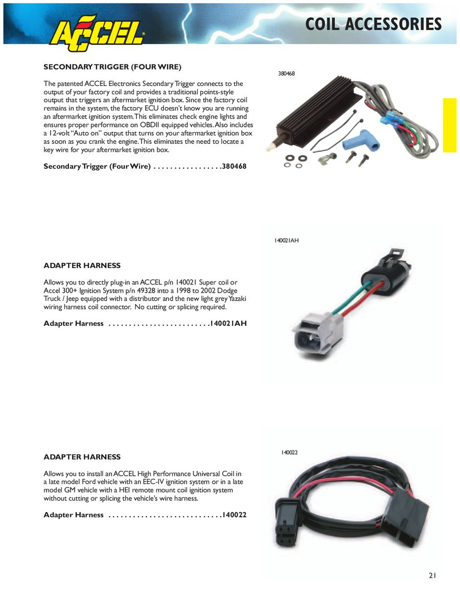 Page 22 Of Accel Performance Spark Fuel 2007 Dodge Coil Connector Wiring P 234