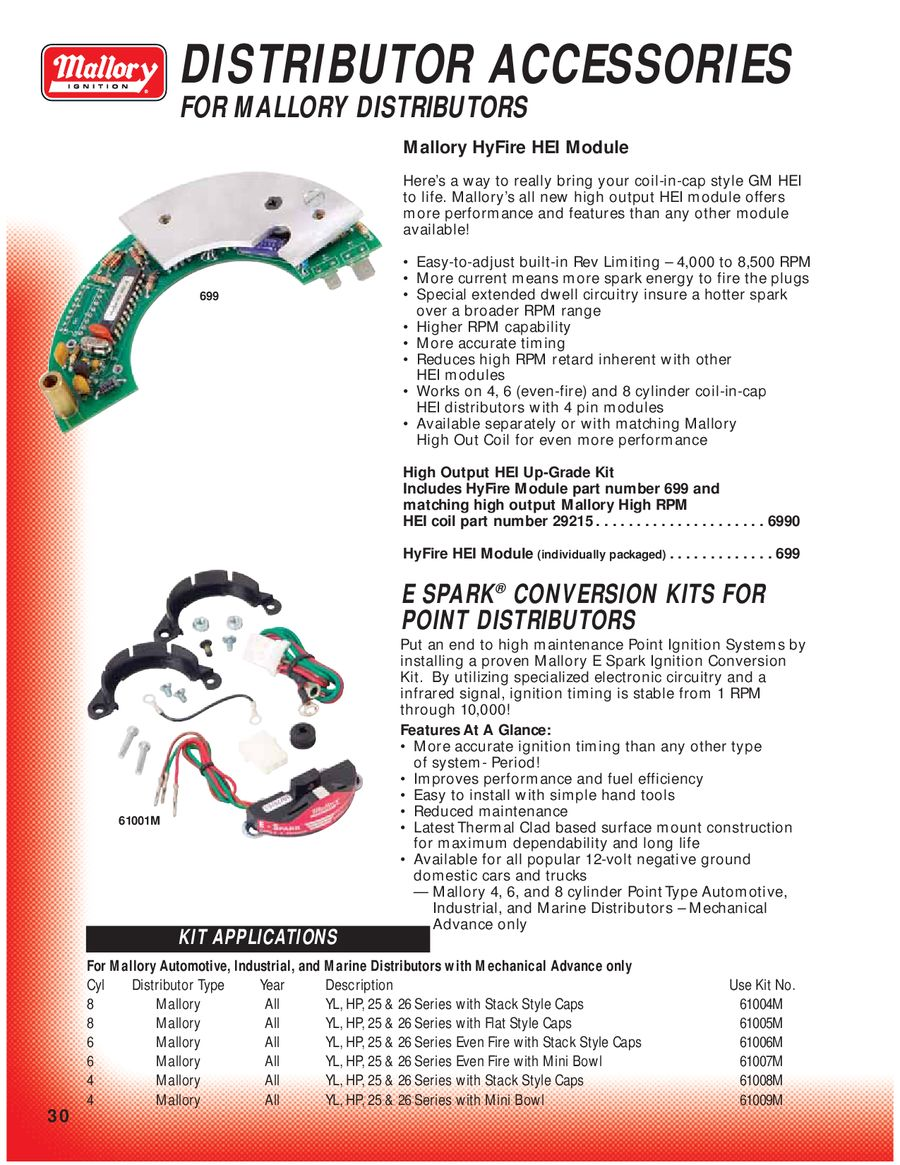 Page 35 Of Mallory Ignition Distributor Replacement Parts P 150