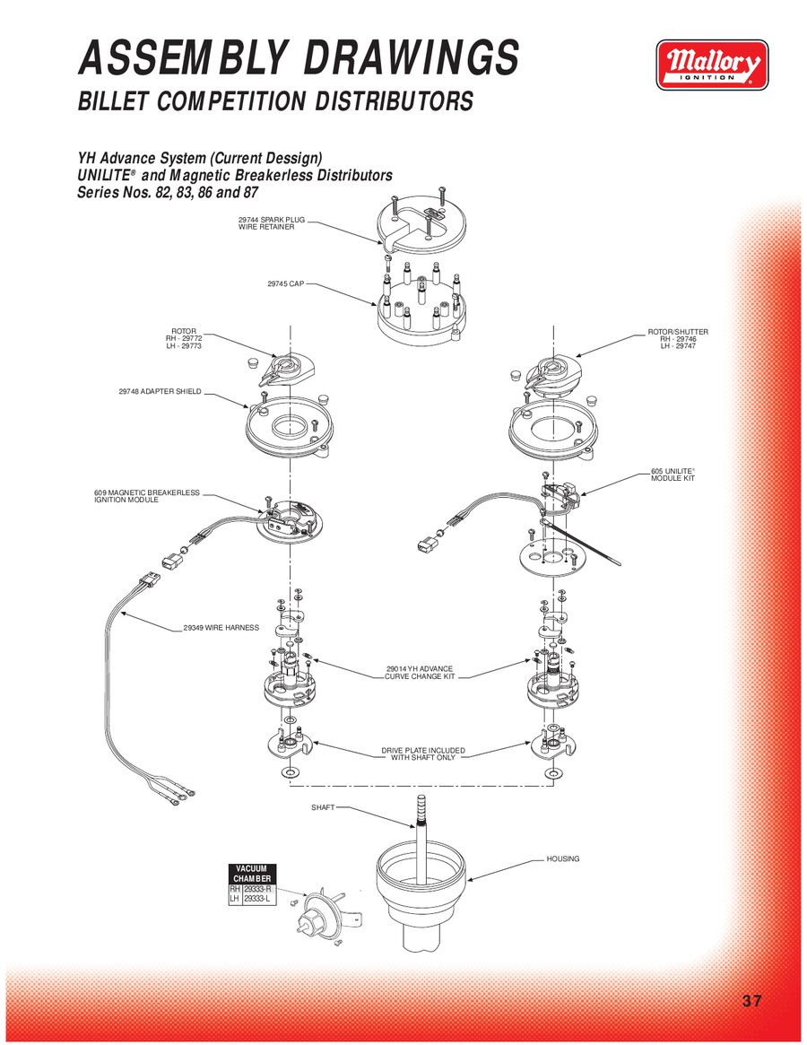 Page 36 Of Mallory Ignition Distributor Replacement Parts P 150
