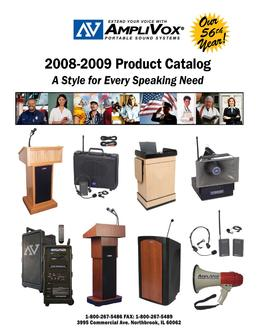 Portable Sound Systems 2008-2009