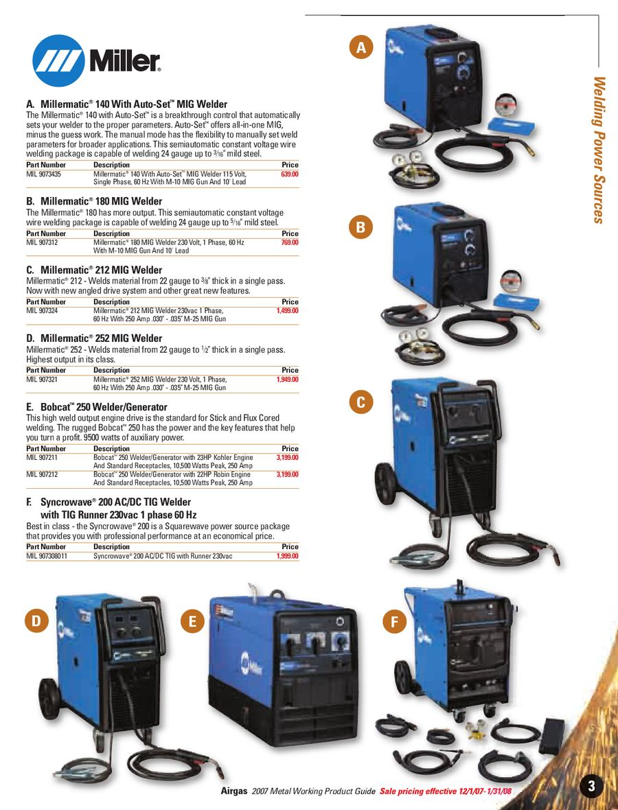 2007 Metal Working Products by Airgas