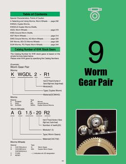 Catalogue: KHK Stock Gears Worm Gear Pair