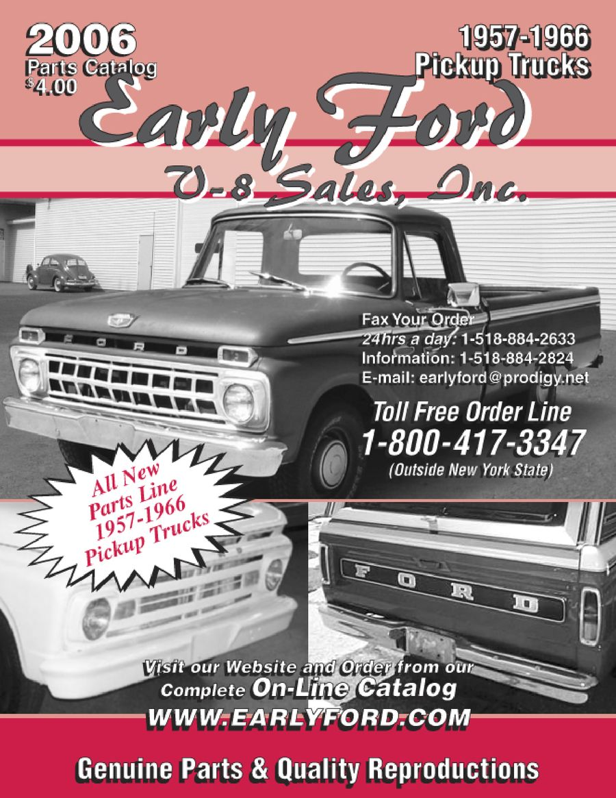 1957 1966 Truck Parts By Early Ford V 8 Sales