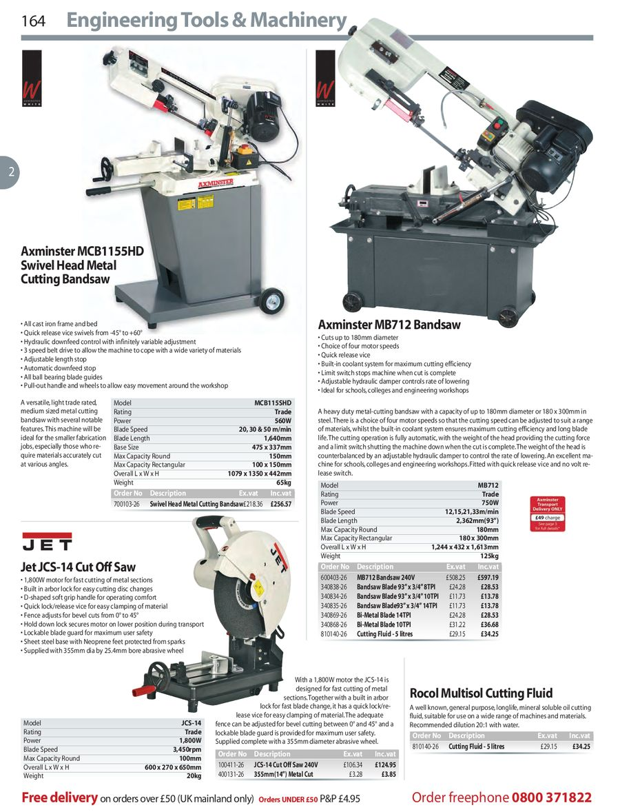 Page 164 Of TOOLS MACHINERY 2008 09