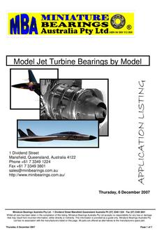 Model Jet Turbine Bearings