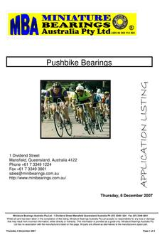 Pushbike Bearings