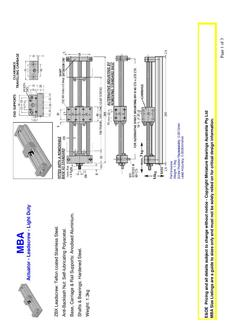 Actuator - Leadscrew - Light Duty