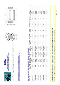 Bearings - Linear - Ball - Thomson Precision Steel (Open)