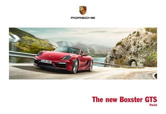 The new Boxster GTS 2014