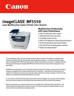 imageClass MF5550 Laser Multifunction Printer