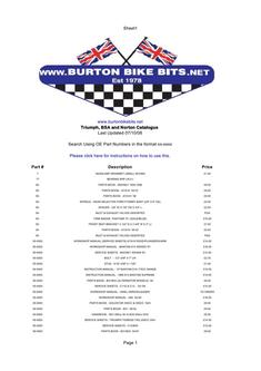 BSA Triumph Norton and Royal Enfield Motorcycle Parts