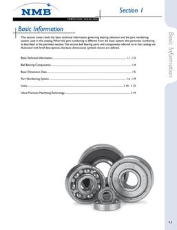 NMB Ball Bearings Basic Info 2015