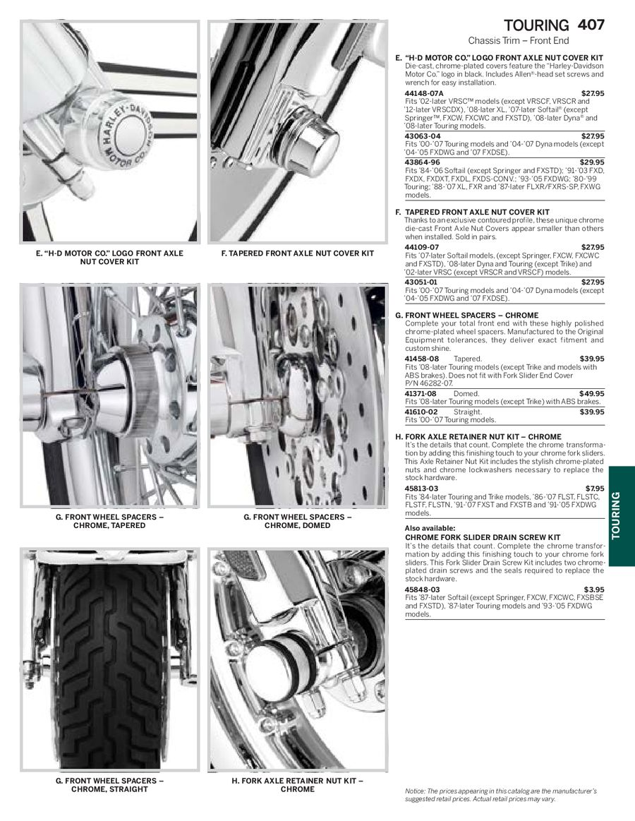 Page 112 of Harley Davidson Touring Family Parts