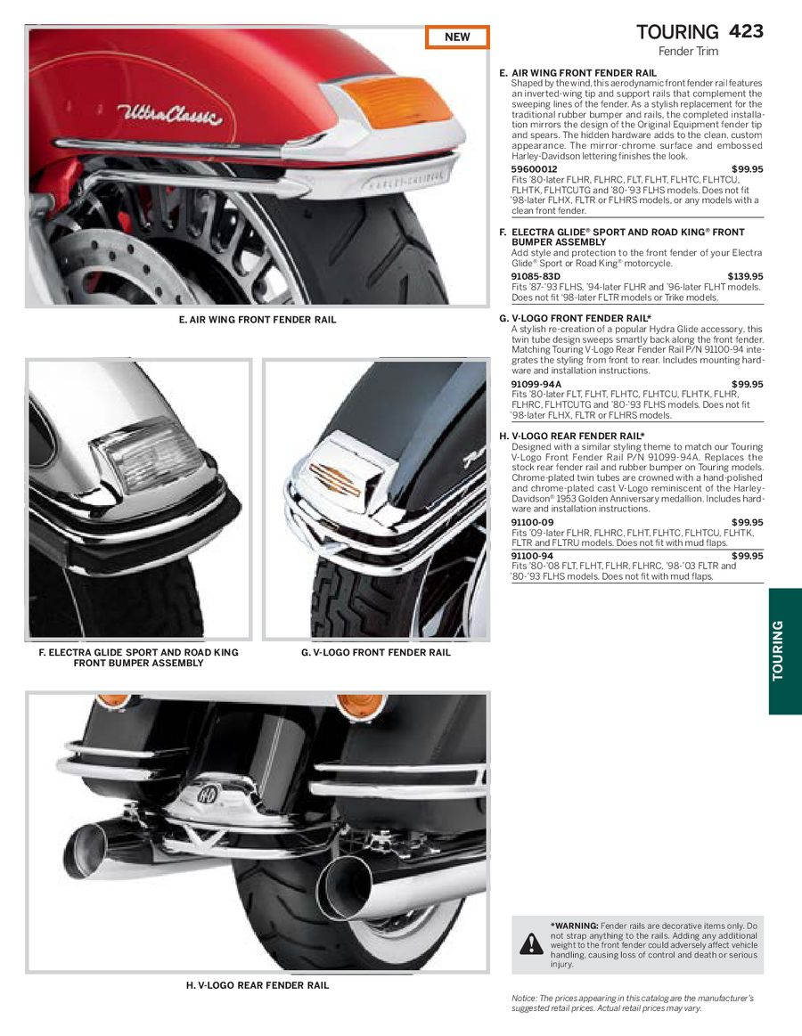 Page 127 of Harley Davidson Touring Family Parts & Accessories 2013