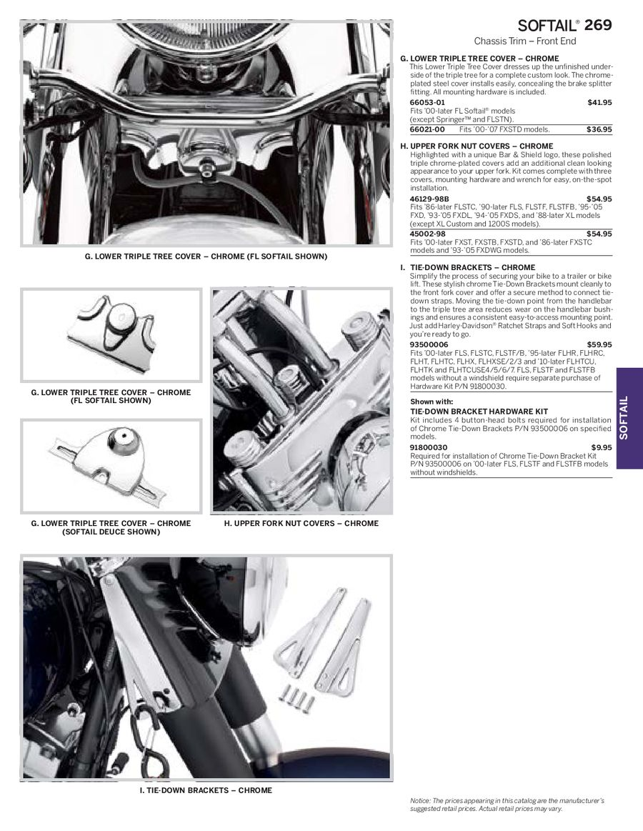 Page 84 of Harley Davidson Softail Family Parts