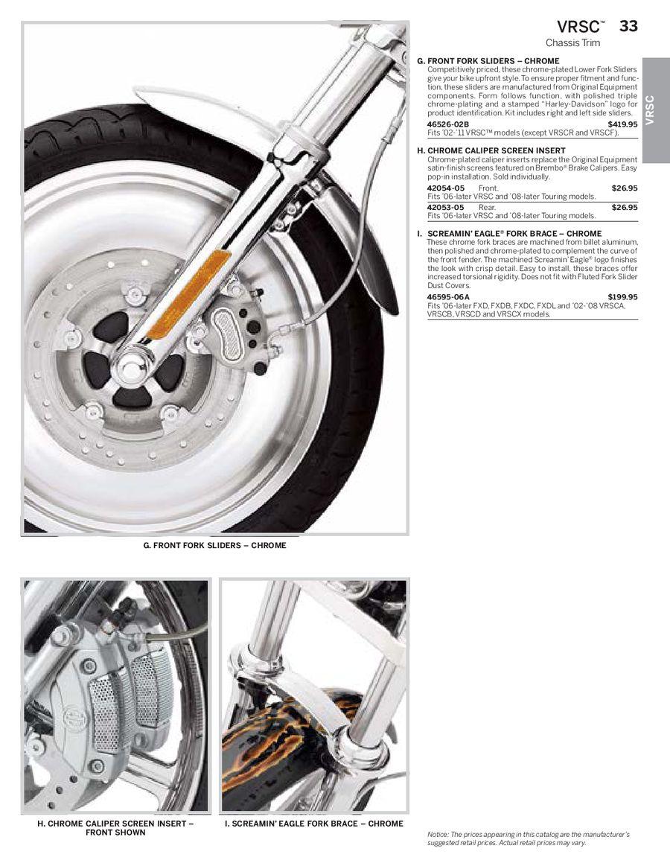 Harley Davidson VRCSA VRSCB 1130 V-ROD 2002-2007 YSS PD Fork Valves PD425