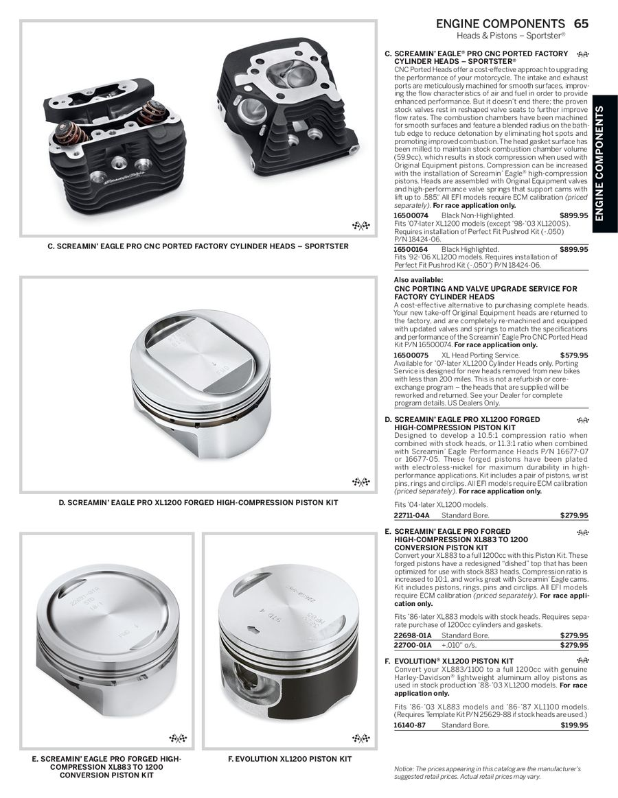 Page 64 of 2014 Screamin Eagle® Pro Racing Parts