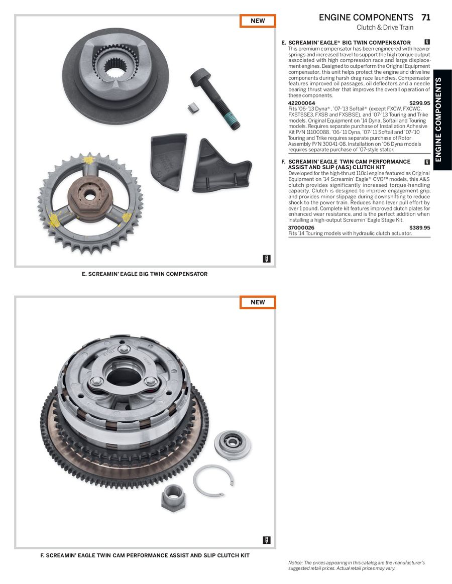 Page 70 of 2014 Screamin Eagle® Pro Racing Parts