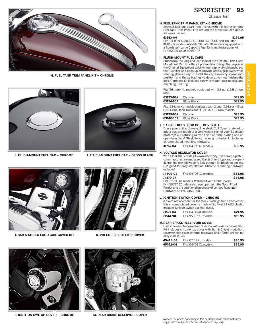 Page 55 of 2015 Genuine H-D SPORTSTER Parts
