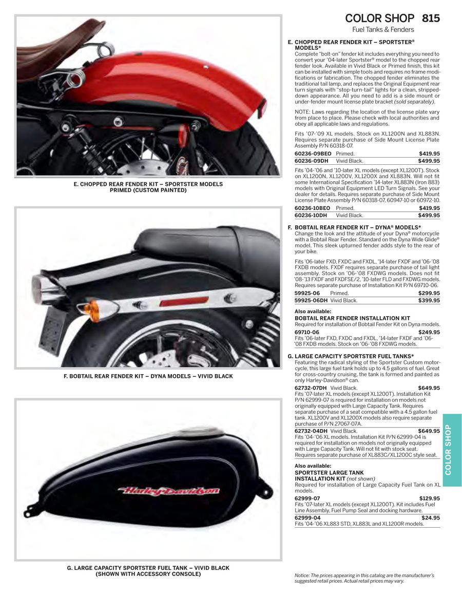 Page 758 of 2015 Genuine H-D Motor Parts & Accessories