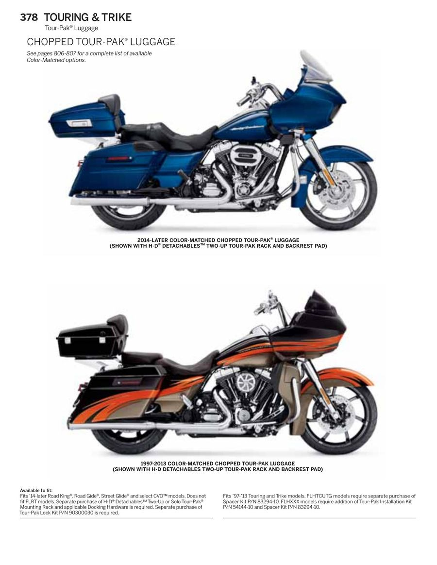 Page 382 Of 2016 Harley Davidson Genuine Motor Parts Accessories 2015 Tour Pack P 924