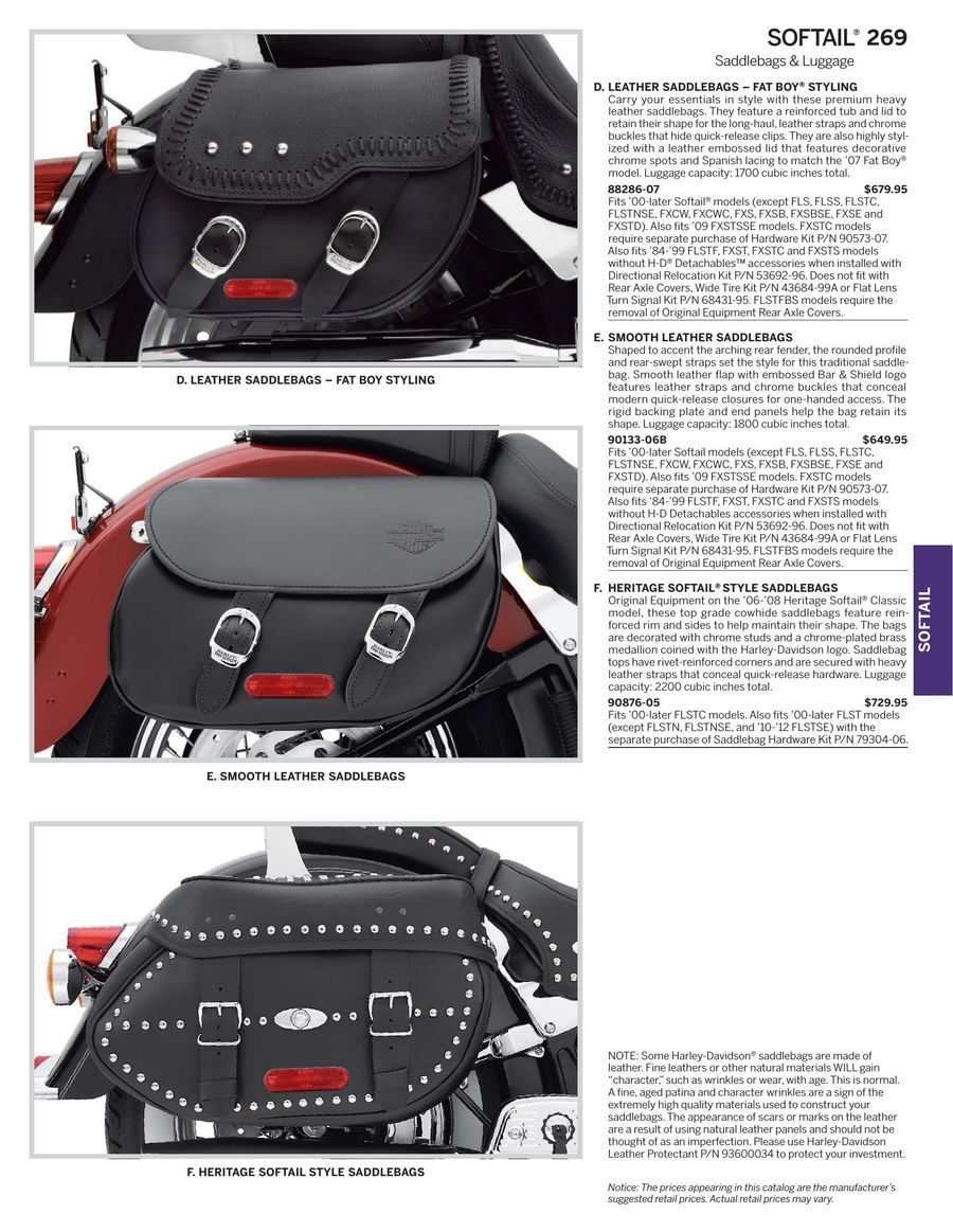 Page 271 Of 2017 Harley Davidson Genuine Motor Parts Accessories Leather Protectant P 964