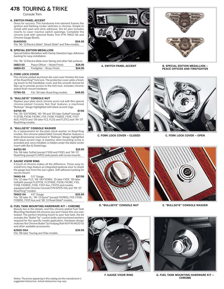 Harley Fairing Switches