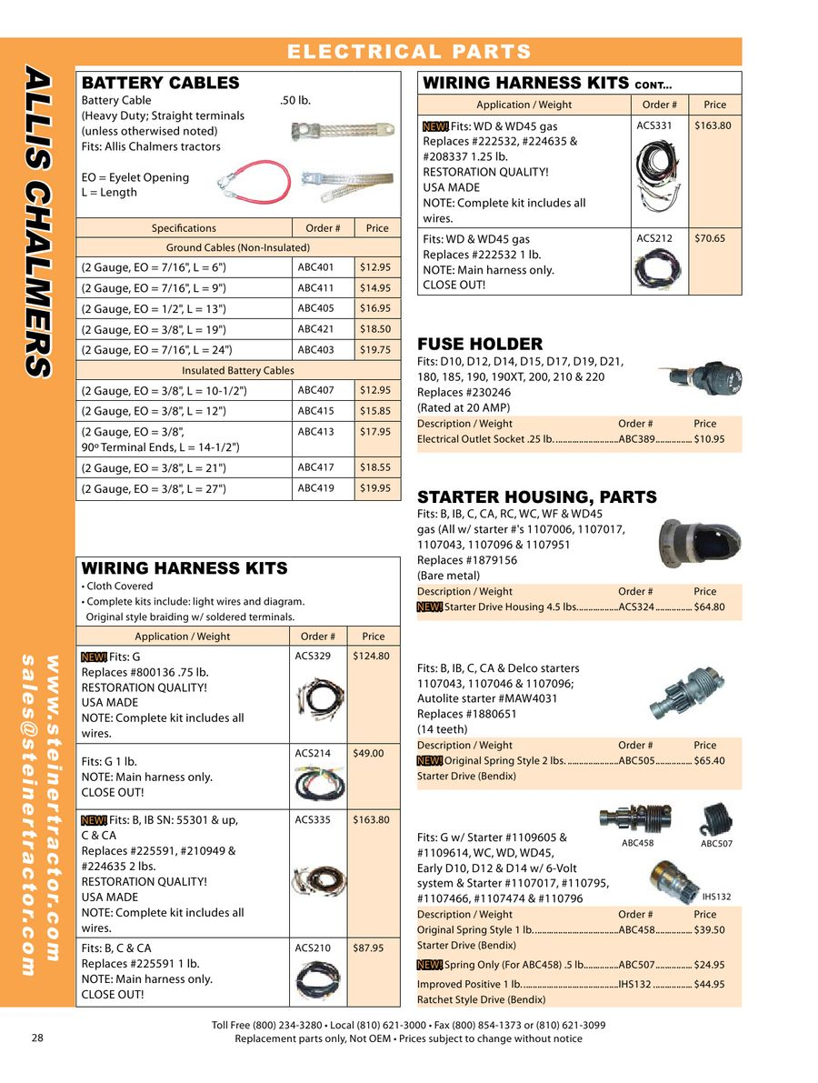 Page 13 Of Allis Chalmers Parts 2009 Wd Wiring Harness P 39