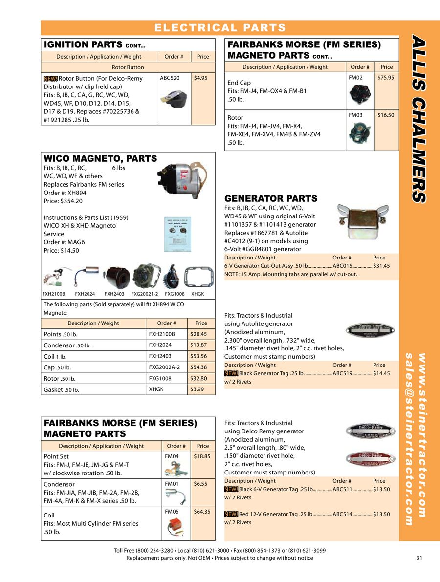 Page 17 Of Allis Chalmers Parts 2009 Wico Magneto Wiring Schematic P 39