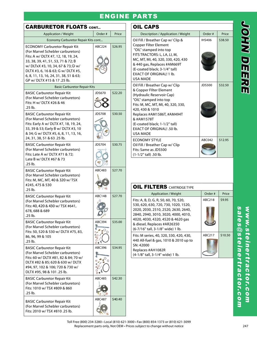 Page 16 of John Deere Parts 2009
