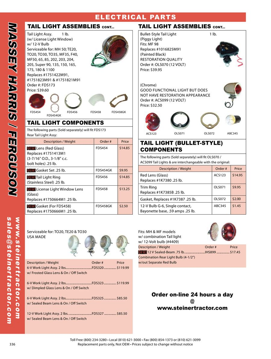 Page 22 of Massey Harris & Ferguson Parts 2009