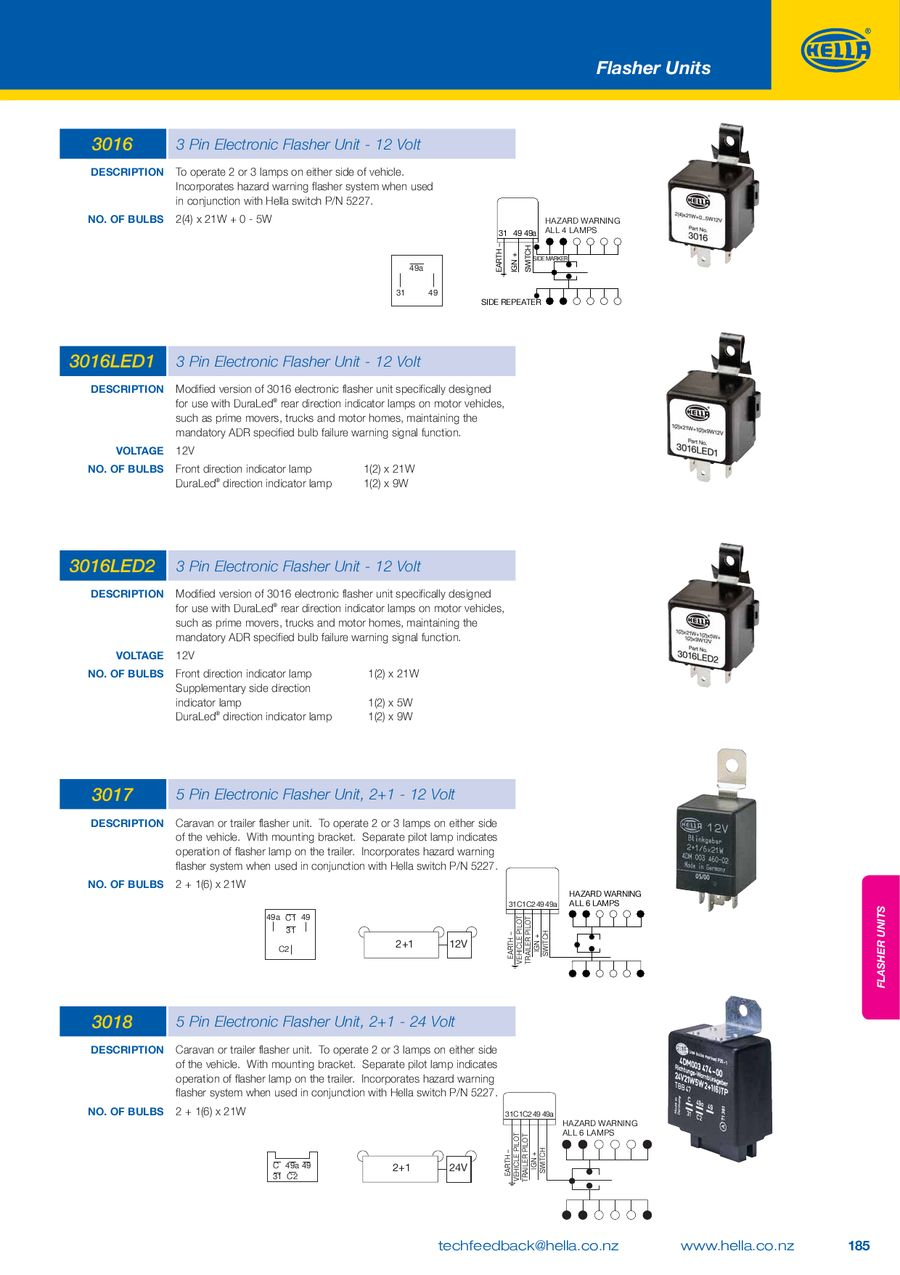 Relays And Flasher Units 2010 2012 By Hella New Zealand Pin Relay Electronic Car Pictures P 1 12