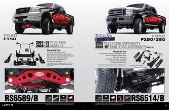 Ford Suspension 2008 - 2009
