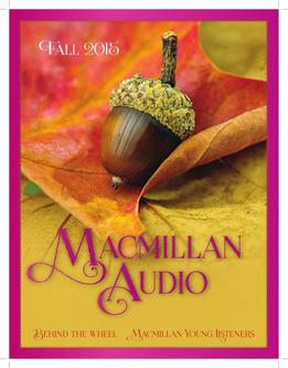 Macmillan Audio Fall 2015