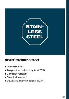 drylin® Stainless Steel 2015