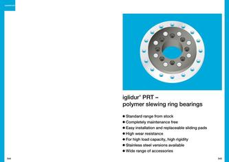 iglidur® PRT slewing ring bearings 2015