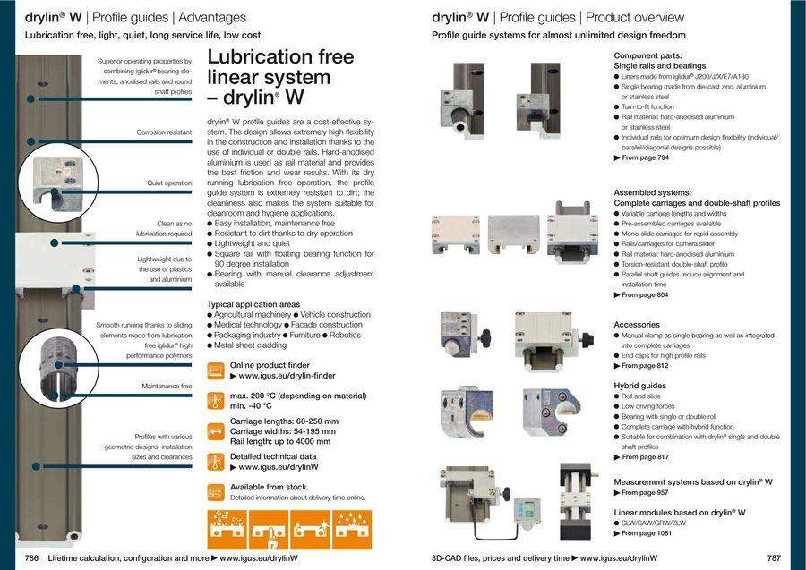 drylin® W - Flexible Linear Guide System 2015 by Igus