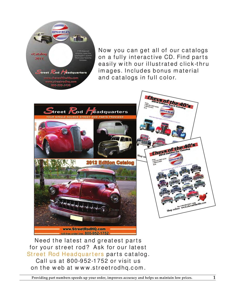 2012 Truck Restoration Parts by Chevs of the 40s