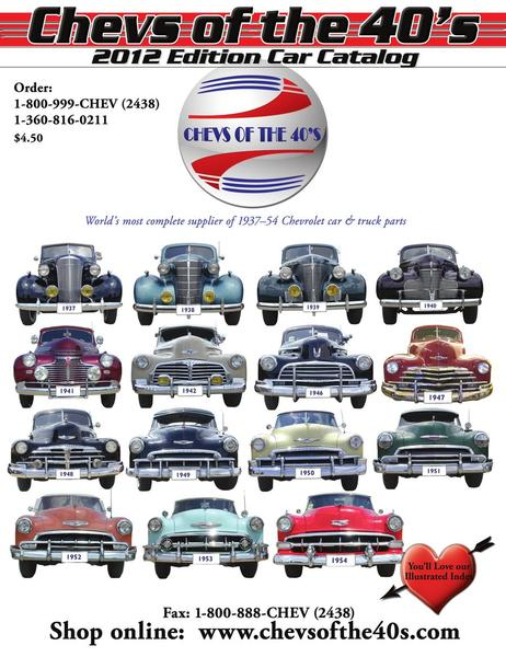 2012 1937 54 chevrolet car parts by chevs of the 40s. Black Bedroom Furniture Sets. Home Design Ideas