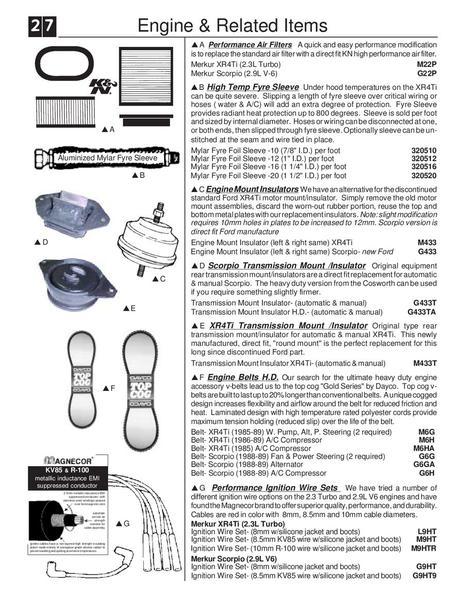 merkur xr4ti parts html auto parts diagrams