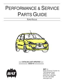 Ford Focus Performance Parts By Bat Inc