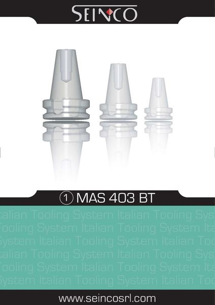 Catalogue: Seinco Components BT - MAS 403 Tool Holders