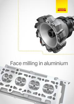 Face milling in aluminium