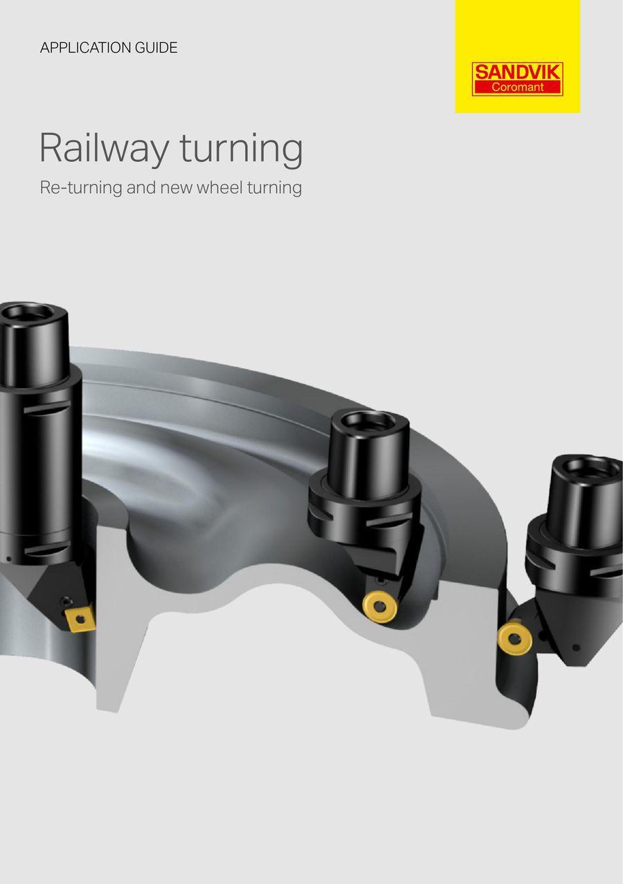 Railway turning by Sandvik Coromat