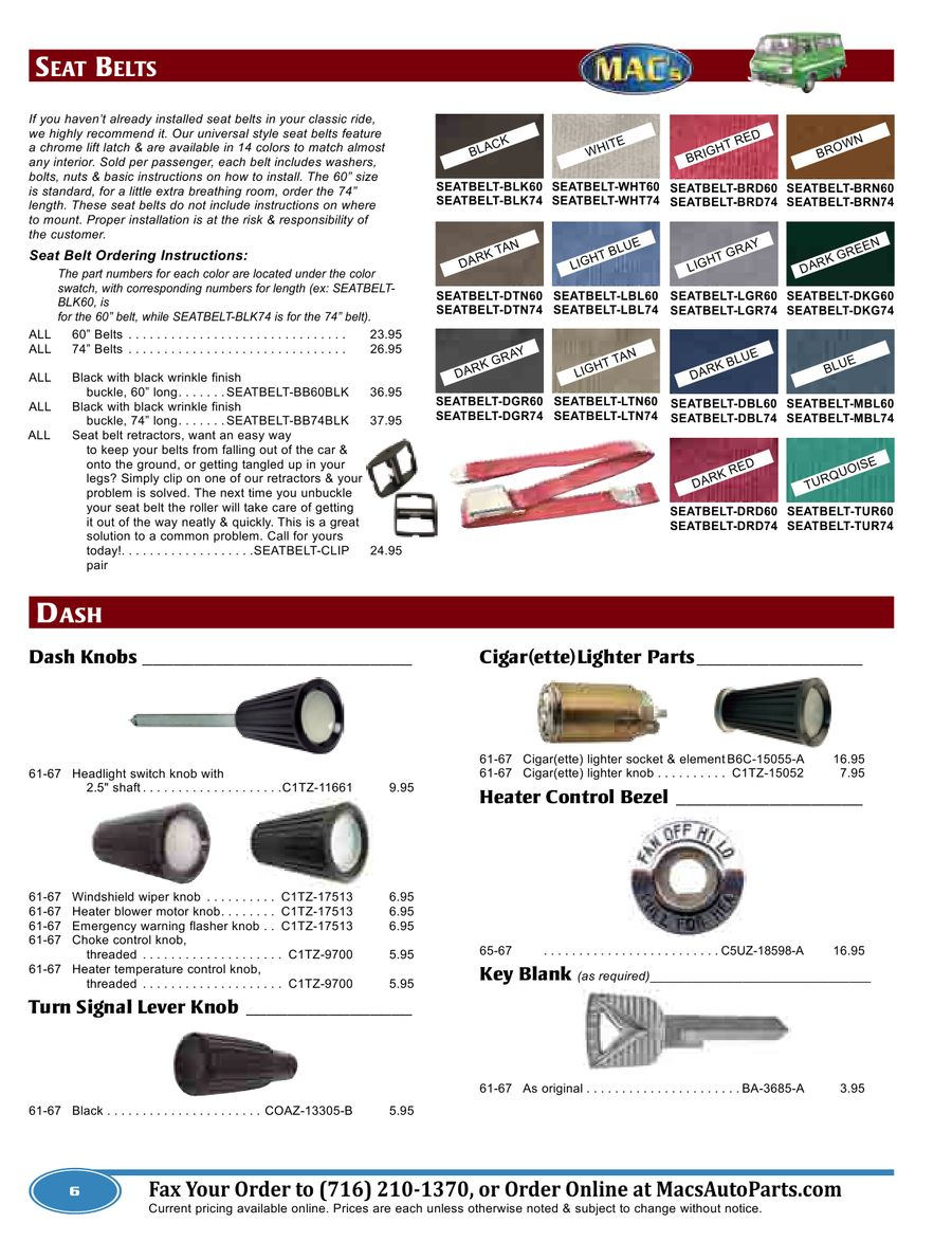 Ford Econoline 2012-2013 Parts & Accessories by MACs Antique