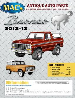 Ford Bronco 2012-2013 Parts & Accessories