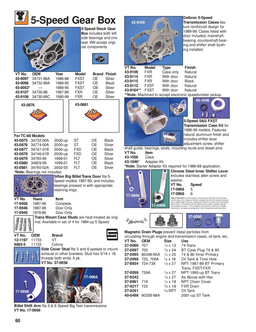 Page 62 of Harley Davidson and VTwin Parts 2009